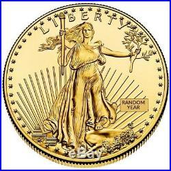 1 oz Gold American Eagle Coin Random Year BU (Takes 10-15 days to ship)