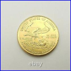2001 American Eagle 1/4 Ounce $10 Dollar Liberty Round Gold Coin