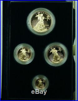 2001 American Eagle Gold Proof 4 Coin Set AGE in Box with COA