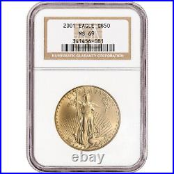 2001 American Gold Eagle 1 oz $50 NGC MS69