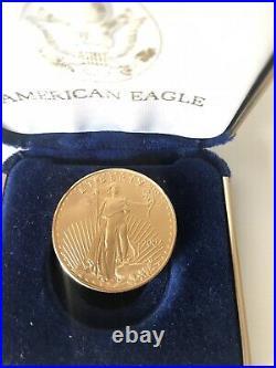 2002 American Gold Eagle 1 oz $50 BU coin in U. S. Original Box