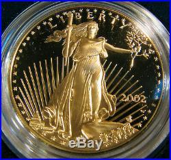 2002 W American Gold Eagle 4 Coin Proof Set w Box COA Platinum Silver Palladium