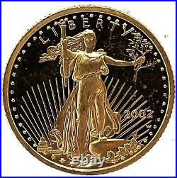 2002-W American Gold Eagle Proof (1/10 oz) $5 Coin Only. #1
