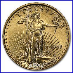 2003 1/10 oz Gold American Eagle BU SKU #4704
