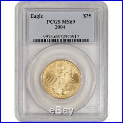 2004 American Gold Eagle (1/2 oz) $25 PCGS MS69
