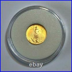 2005 1/10th oz American Gold Eagle in Capsule