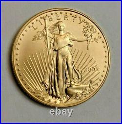 2005 American Eagle 1 Oz. Fine Gold $50 Dollar Coin