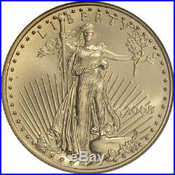 2005 American Gold Eagle (1/2 oz) $25 NGC MS70 Non Edge-View Holder
