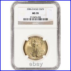 2006 American Gold Eagle 1/2 oz $25 NGC MS70