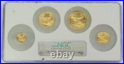 2006 Gold American Eagle 4 Coin Set 1.85 Oz Ngc Mint State 69