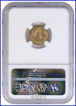 2006 W 1/10 oz Burnished Gold American Eagle $5 NGC MS70 ER SKU16495