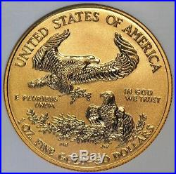 2006 W $50 American Eagle 1 oz Gold Reverse Proof Coin 20th Ann (NGC PF 70 PF70)