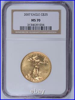 2007 1/2 oz American Gold Eagle NGC MS70