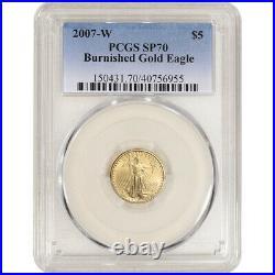2007 W American Gold Eagle Burnished 1/10 oz $5 PCGS SP70