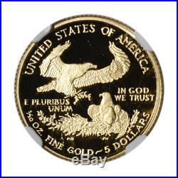 2007-W American Gold Eagle Proof (1/10 oz) $5 NGC PF70 UCAM
