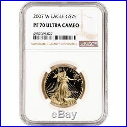 2007-W American Gold Eagle Proof 1/2 oz $25 NGC PF70 UCAM