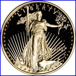 2007-W American Gold Eagle Proof 1/2 oz $25 in OGP