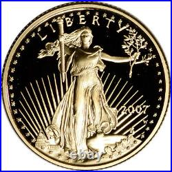 2007-W American Gold Eagle Proof (1/4 oz) $10 in OGP