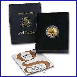 2008-W 1/4 oz Burnished Gold American Eagle (withBox & COA) SKU #57435
