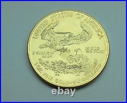 2009 1 oz. Fine gold American Gold Eagle $50 coin SUPERB BRILLIANT UNCIRCULATED