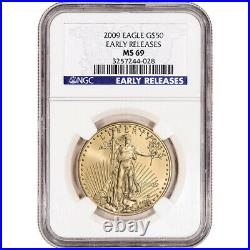 2009 American Gold Eagle 1 oz $50 NGC MS69 Early Releases