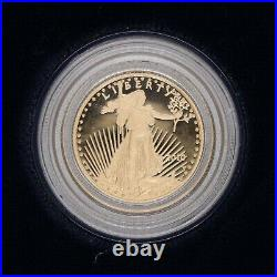2010 1/10oz. Proof Gold American Eagle $5 with Box & COA