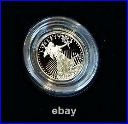 2010-W GOLD Eagle $5 Proof 1/10oz. WithOGP