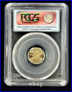 2011 $5 Gold Eagle 1/10 oz 25th Anniversary PCGS MS70 First Strike FLAG LABEL