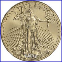 2011 American Gold Eagle (1/2 oz) $25 NGC MS70