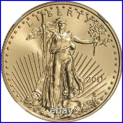 2011 American Gold Eagle 1/2 oz $25 NGC MS70 Mike Castle Signed Label