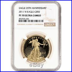 2011-W American Gold Eagle Proof 1 oz $50 NGC PF70 UCAM