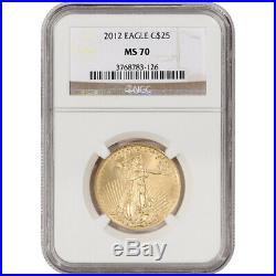 2012 American Gold Eagle (1/2 oz) $25 NGC MS70