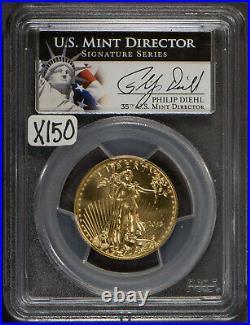 2013 $25 Gold 1/2 oz AMERICAN EAGLE PCGS MS 70 DIEHL SIGNATURE Lot#X150