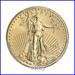 2013 American Gold Eagle 1/10 oz $5 PCGS MS70