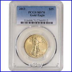 2013 American Gold Eagle 1/2 oz $25 PCGS MS70