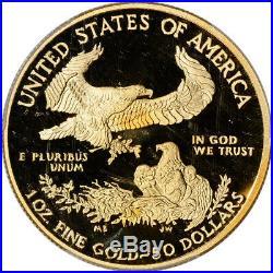 2013-W American Gold Eagle Proof 1 oz $50 PCGS PR70 DCAM First Strike