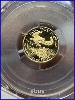 2014 W Gold $5 Proof American Eagle 1/10 Oz Pcgs Pr70 Dcam Reagan Deep Cameo