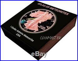 2015 1 Oz Silver $1 ADMIRE METEORITE EAGLE Coin, 24kt Rose Gold Gilded