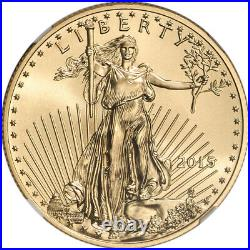 2015 American Gold Eagle 1/2 oz $25 NGC MS70 Early Releases