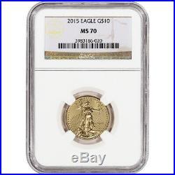 2015 American Gold Eagle (1/4 oz) $10 NGC MS70