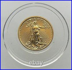 2016 $5 Gold American Eagle 1/10 oz. Brilliant Uncirculated in capsule