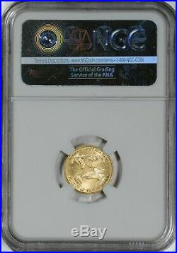2016 $5 Gold Eagle 30th Anniversary NGC MS70 Miley Tucker-Frost