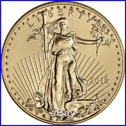 2016 American Gold Eagle (1/2 oz) $25 NGC MS70 First Day of Issue 1st Label