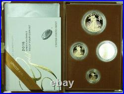 2016 American Gold Proof Eagle 4 Coin Proof Set With Box & COA
