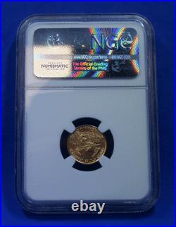 2016 GOLD 1/10 Oz. American Eagle NGC MS-70 30th Anniversary