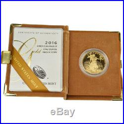 2016-W American Gold Eagle Proof (1 oz) $50 in OGP