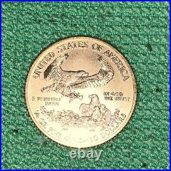2017 $10 Gold American Eagle 1/4 Oz. Coin Bu Very Nice