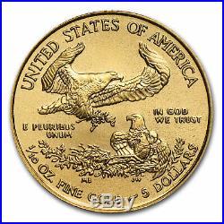 2017 1/10 oz Gold American Eagle BU SKU #102258