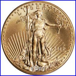 2017 $5 American Gold Eagle 1/10 oz Brilliant Uncirculated