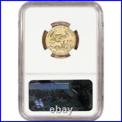2017 American Gold Eagle (1/4 oz) $10 NGC MS70 Early Releases St Gaudens Label